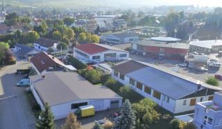 Firmengebäude von oben